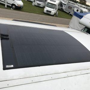 triple lane CIGS solar panel