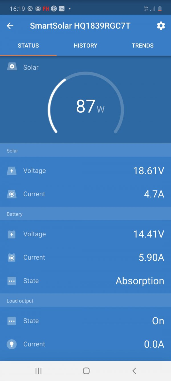 Smart controller screen shot